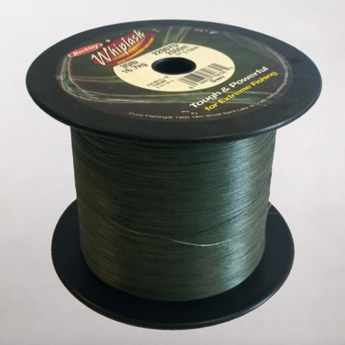 Berkley Whiplash BulkSpool Dyneema LoVis Green BRAID 35lb 0.12mm 2000 m 2200 Yds
