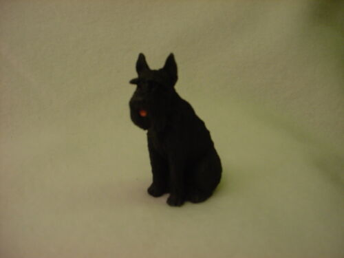 GIANT BLACK SCHNAUZER puppy TiNY DOG Resin Figurine MINIATURE Mini Statue NEW