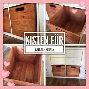 2 Holzkisten Aufbewahrung Box Kiste Regal Kallax Ikea Expedit