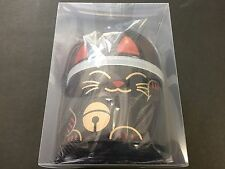HAKOYA Lunch Bento Box 52678 Maneki Neko Cat Black Kokeshi ManekiNeko JAPAN