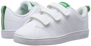 san francisco daa53 b1ca7 Caricamento dell immagine in corso Adidas-Advantage-bianco-verde-sneakers- bimbo-a-unisex-