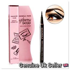 Monomola-7-Days-Eyebrow-Tattoo-Pen-Liner-Long-Lasting-Makeup-Black-amp-Brown-UK