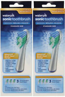 Waterpik Sonic Toothbrush Replacement Head Srrb-3w (standard Size) 6 Count