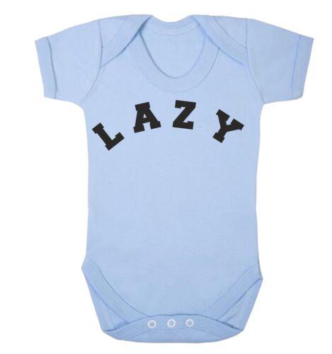 Lazy Babygrow Sleepy Slogan Fashion Nouveau-né Cadeau