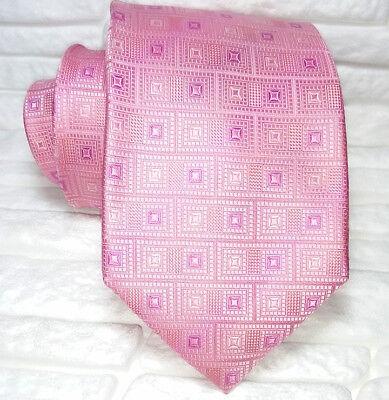 Cordiale Cravatta Uomo Rosa 100% Seta Made In Italy Business Evento
