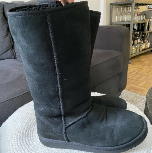 Classic Tall UGG Boots Black Size 9