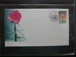 AUSTRALIA-1998-HUMAN-RIGHTS-FDC-FIRST-DAY-COVER-P-M-MELBOURNE