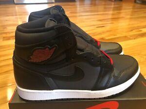 Nike Air Jordan 1 Retro High Og Black Satin Gym Red 555088 060
