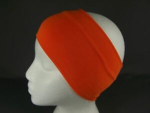 "Orange super extra 4.25"" wide soft stretch elastic headband hair head band"