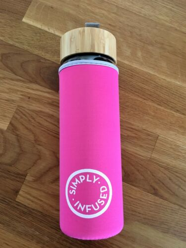 Glass Infuser drink bottle protective Cover Pink