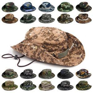 9856cde852b Tactical Army Military Boonie Bucket Hat Men s Jungle Bush Safari ...