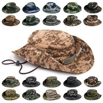 Tactical Bucket Hats Sun Hunting Fishing Outdoor Mens Cap Army Military Shooting
