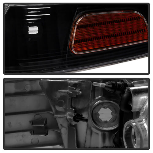 1998-2011 Ford Crown Victoria Black Front Headlights Corner Signal 4PC Combo