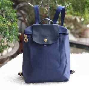 Longchamp-Le-Pliage-Backpack-Navy-Blue