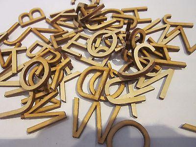 Wooden Letters Alphabet A-Z Letter Upper Case 2.5cm 41 pcs decupage card making
