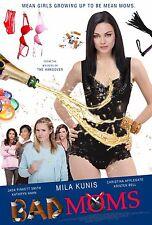 Bad Moms Movie Poster (24x36) - Mila Kunis, Kathryn Hahn, Kristen Bell v2