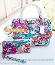 cdb4b54aeccc BNWT RRP 324 GUESS RYANN Handbag Satchel Shoulder Bag Wallet Purse Cluth  Floral
