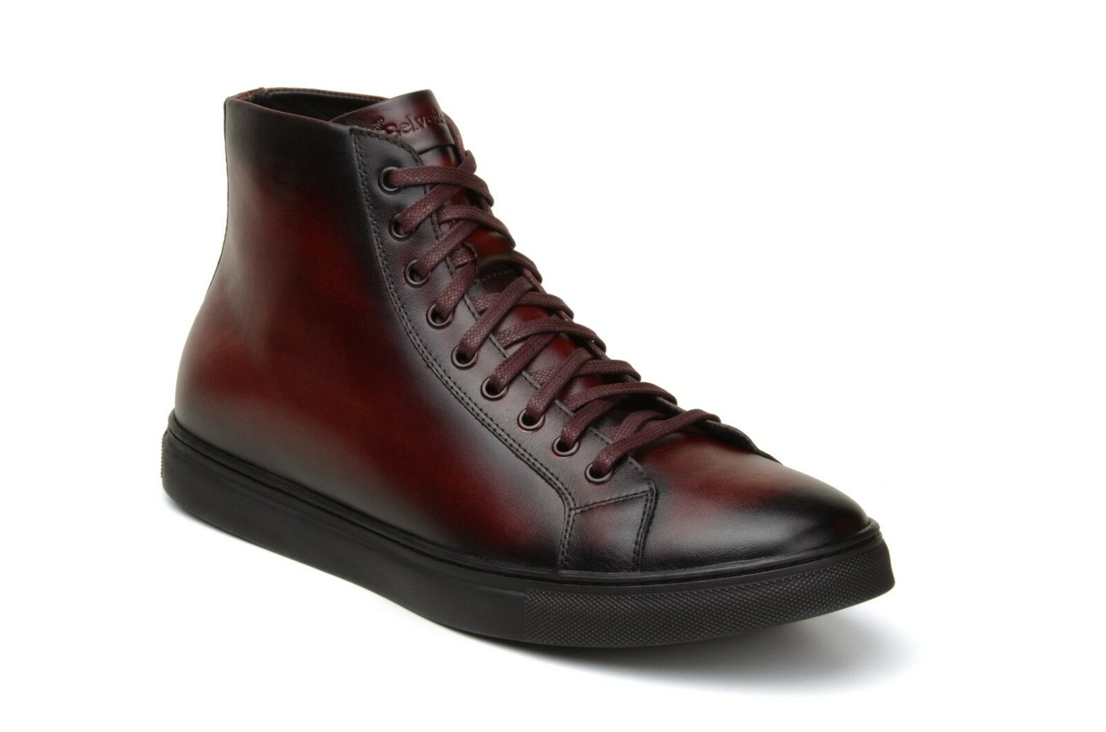 Belvedere New Exotic TurnschuheStiefel David Antique Burgundy Leather Sporty Sporty Sporty High-top 61dae8