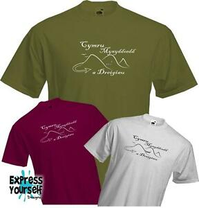Welsh-Cymru-T-Shirt-St-Davids-Dragons-Wales-Cool-Quality-NEW