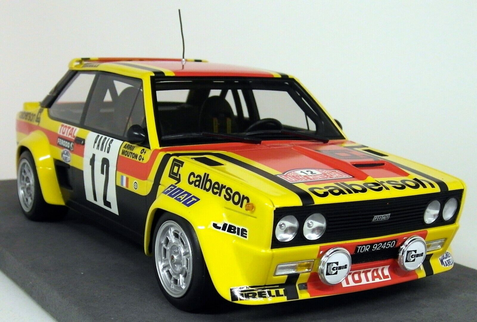 Top Marques 1 18 Scale - Fiat 131 Abarth 1980 Monte Carlo Rally Mouton Annie