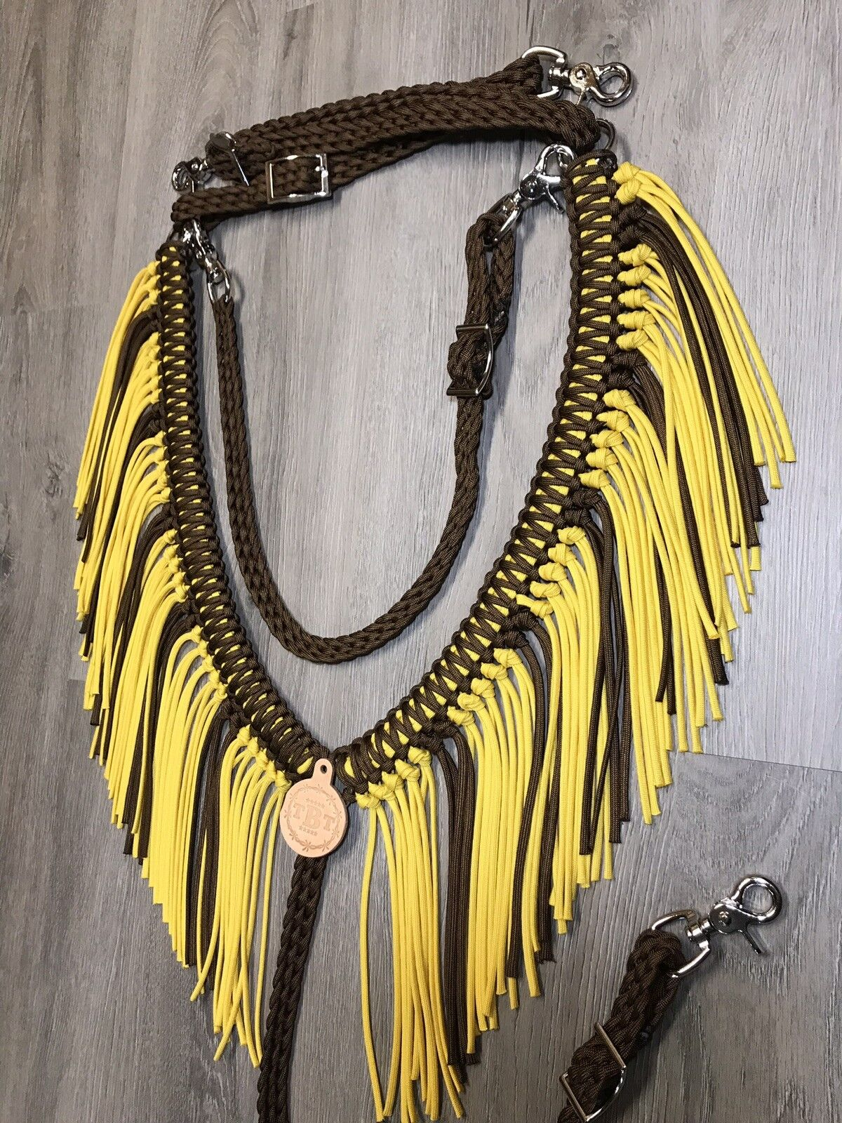 Fringe Breast Collar, Sunflower  cavallo Tack