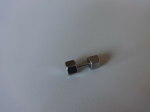 PLUG FAKE Hexagon Gewicht Hantel Bolzen PUNK GOTHIK WAVE für OHR Ear 1,6mm Lip