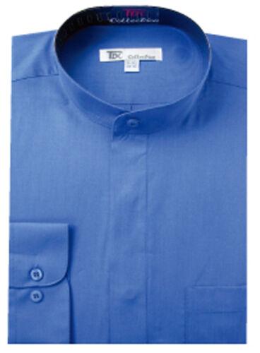 Men/'s Classy Mandarin Collar hidden button Dress Shirt Many Colors SG 01