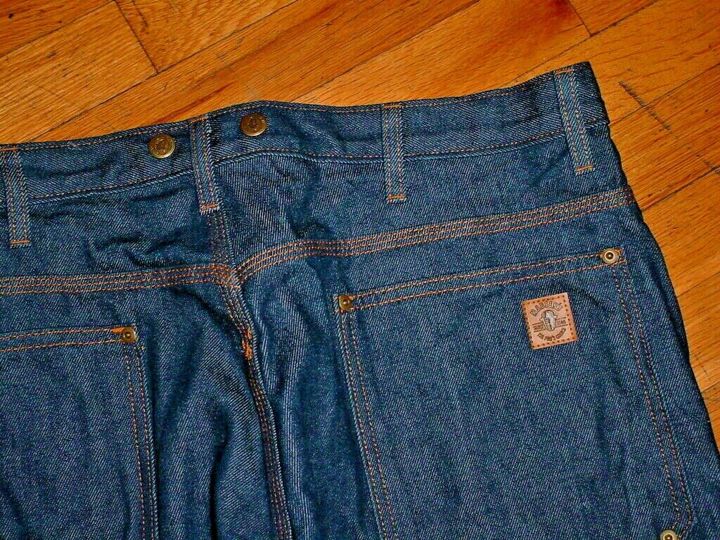 New Madsen's The Pro's Choice Heavy Duty Logger Denim Jeans 38x34 Timber-fallers