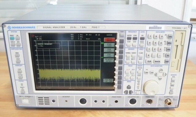 Rohde & Schwarz R&S FSIQ7 Vector Signal Analyzer 20 Hz-7 GHz w/ GSM + EDGE MS