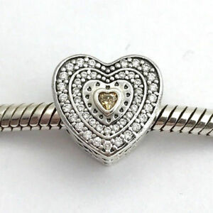 b67e3dcde Image is loading New-Authentic-Pandora-Charm-Lavish-Heart-Charm-792081FCZ