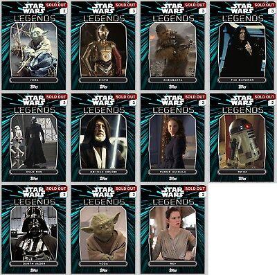 Die-Cut Insert Set Topps Star Wars Digital Card Trader 4 Card White Rise