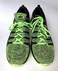 Details about NIKE FLYKNIT LUNAR 2 Men's $90 Running Shoes Size 13 Black Green