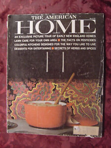 Details about The AMERICAN HOME Magazine MARCH 1963 Design Decorating  Kitchens Gardens Food