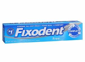 Fixodent Free Denture Adhesive Cream 2.40 oz (Pack of 9)