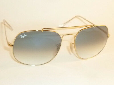 8f4f1b3aeca22 Ray-Ban General RB 3561 001 3f Gold Aviator Sunglasses Blue Gradient ...