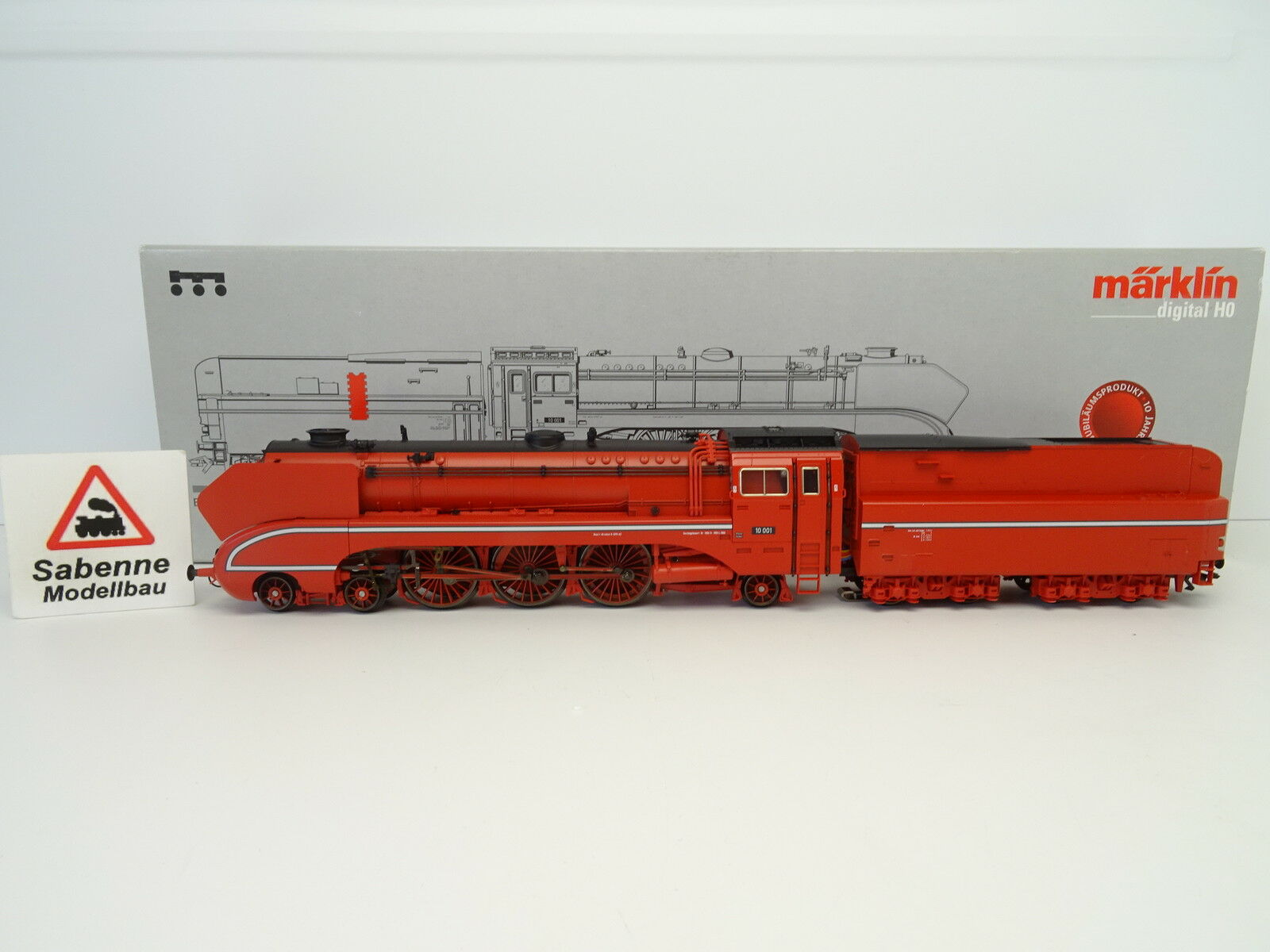 h0 37082 locomotiva br10 001 Insider in Rosso Audio Digital OVP m1155