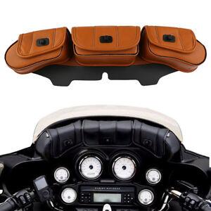 Windschutzscheibe-Satteltaschen-Windshield-Bag-fuer-Harley-Touring-Electra-Street