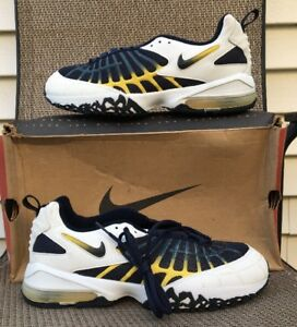 new concept 07ba1 9e2d5 Details about Vintage Nike Air Max 120 OG size 11 White/navy/yellow  178100-141