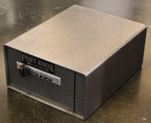 Fort Knox Personal Pistol Box Portable Steel Handgun Safe Conceal Secure Gun