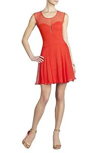 NEW-BCBG-MAX-AZRIA-BRIGHT-RED-MIRANDA-SLEEVELESS-PONTE-NPM6X105-M96-DRESS-SIZE-2