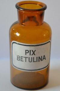 Methodisch Apothekerflasche Alt Vintage Mit Emaille Etikett Pix Betulina Arzt & Apotheker