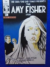 ~~ THE AMY FISHER STORY & JOEY BUTTAFUOCO FLIP BOOK ~ W/COLOR AMY PIN-UP ~~