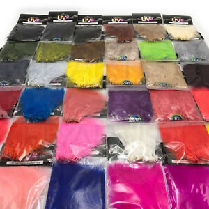 SPIRIT-RIVER-UV2-MARABOU-Fly-Tying-UV-Dyed-Strung-Feathers-Jig-40-Colors-NEW
