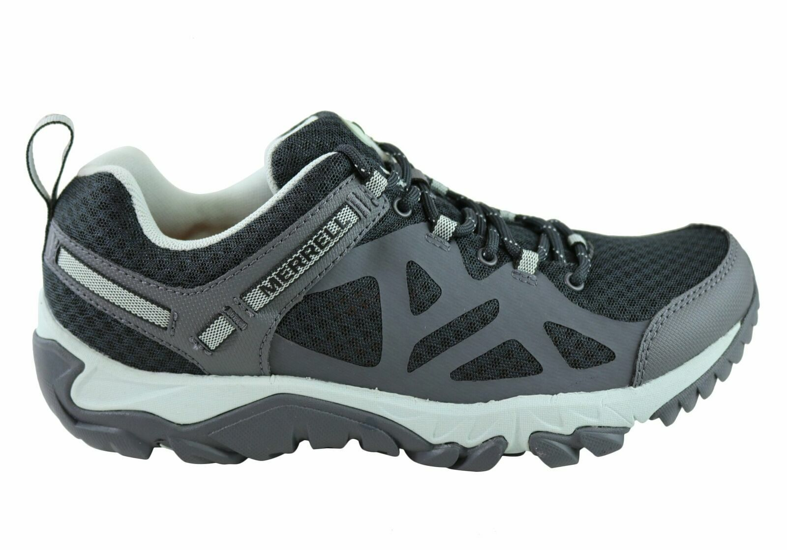 LADIES MERRELL OUTRIGHT EDGE BLACK SELECT GRIP RUNNING WALKING TRAIL SHOES 4-8
