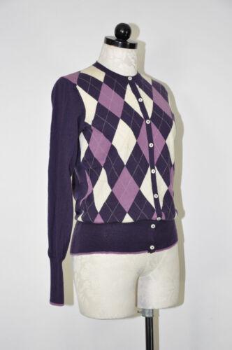 Brooks Brothers Purple Lilac Merino Wool Argyle Di