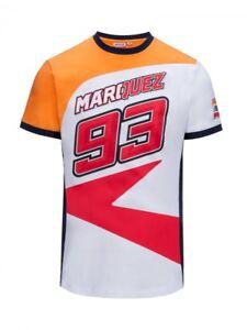 Marc Marquez 93 Dual Honda Moto GP Team Camiseta Logo Negro Oficial Nuovo
