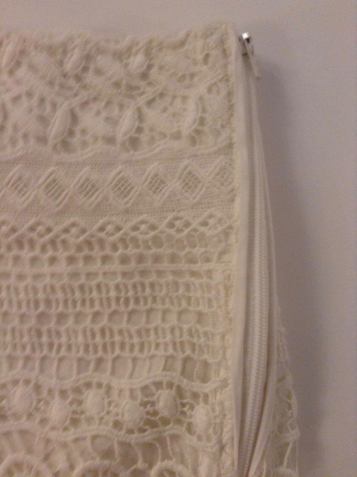 NUOVO senza etichette Paulie, Paulie, Paulie, Parigi Bianco Cotone Pizzo all'Uncinetto Pantaloncini Elegante & provocante Foderato Nuovo 352690