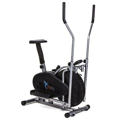 Bicicleta elíptica con resistencia regulable y pantalla LCD–Fitfiu ORB2000S