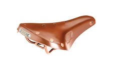 Persons Race 77 Honey Brown Leather Saddle Copper Rails and Rivets B17 copy