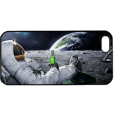 iPhone 5 / 5s Astronaut funny phone case Space quirky universe beer